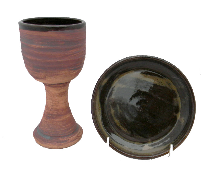 Rustic Chalice and Paten Set
