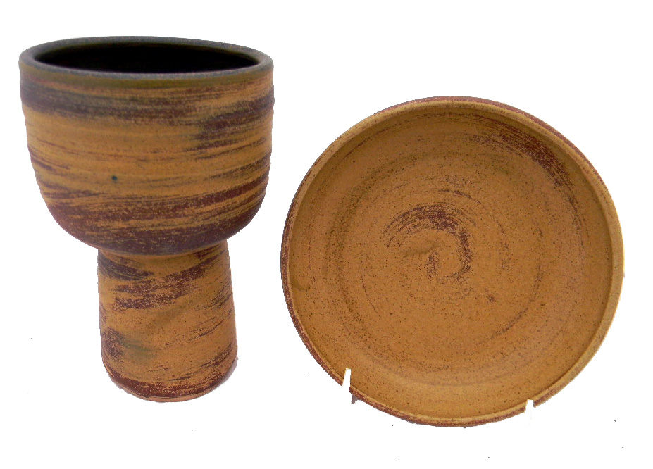 Earthtoned Chalice and Paten Set